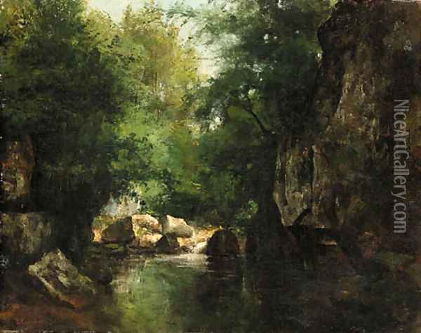 Landscape 2 Oil Painting - Gustave Courbet