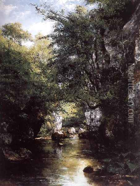 The Stream at Breme Oil Painting - Gustave Courbet