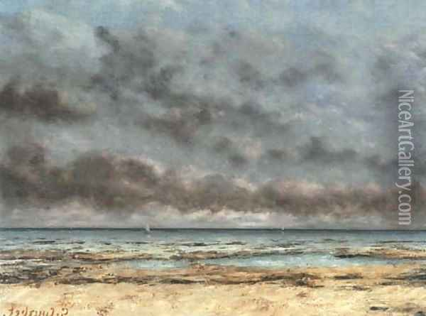 Mer calme Oil Painting - Gustave Courbet