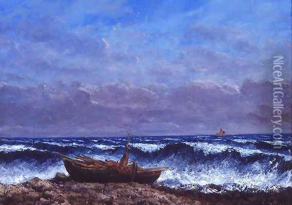 The Stormy Sea or The Wave Oil Painting - Gustave Courbet