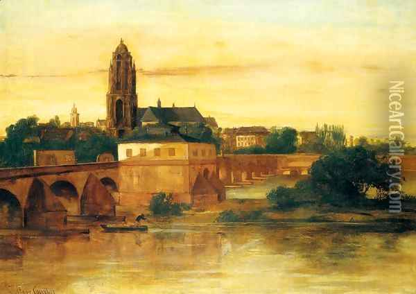 View of Frankfurt am Main Oil Painting - Gustave Courbet