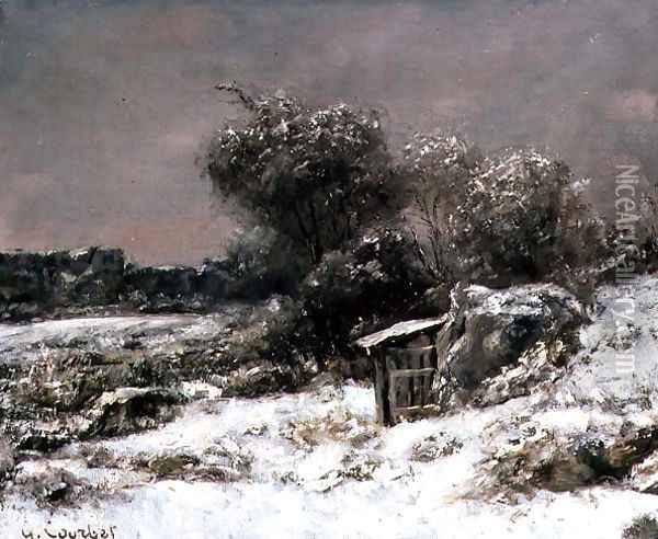 Winter Scene Oil Painting - Gustave Courbet