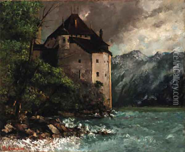 Chateau de Chillon Oil Painting - Gustave Courbet