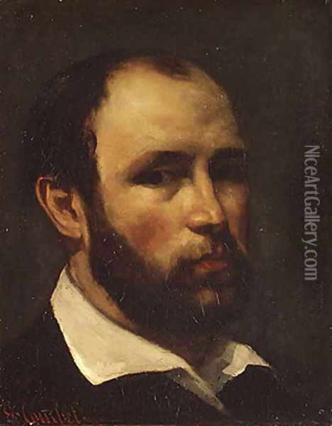 Portrait of a Man, probably ca. 1862 Oil Painting - Gustave Courbet