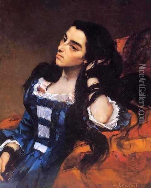 Portrait of a Spanish Lady 1855 Oil Painting - Gustave Courbet