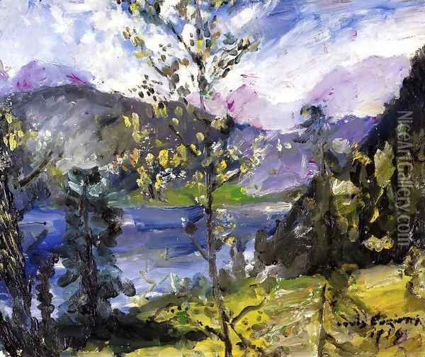 October Show at the Walchensee Oil Painting - Lovis (Franz Heinrich Louis) Corinth