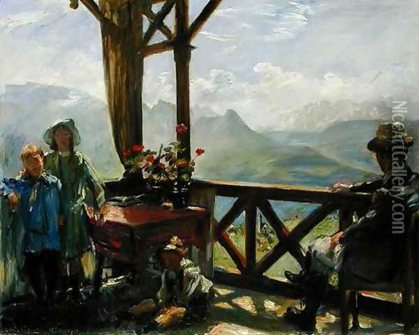 The Klobenstein, 1910 Oil Painting - Lovis (Franz Heinrich Louis) Corinth