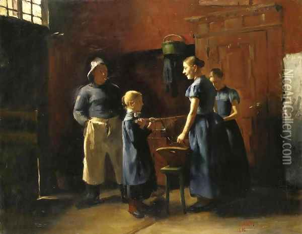 In the Fisherman's House Oil Painting - Lovis (Franz Heinrich Louis) Corinth