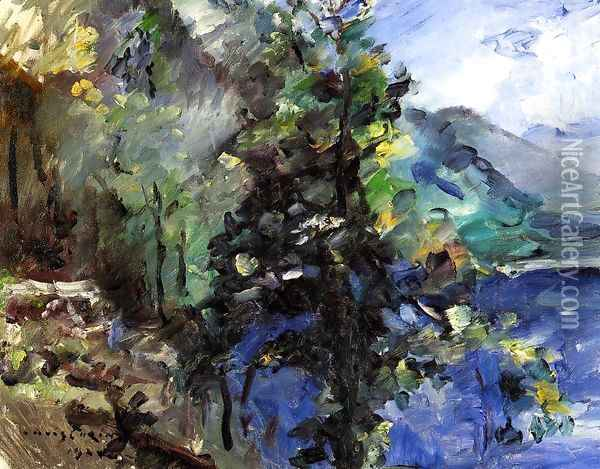 The Walchensee with the Slope of the Jochberg Oil Painting - Lovis (Franz Heinrich Louis) Corinth