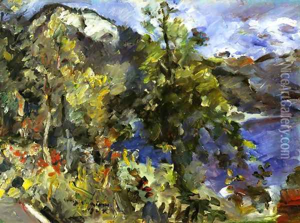 The Jochberg and the Walchensee Oil Painting - Lovis (Franz Heinrich Louis) Corinth