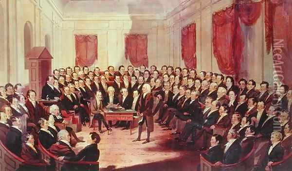 The Virginia Constitutional Convention, 1830 Oil Painting - George Catlin