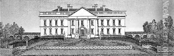 The White House in 1820 Oil Painting - George Catlin