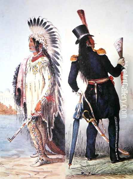 Civilisation of the Indian, c.1833 Oil Painting - George Catlin