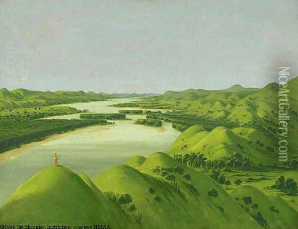 River Bluffs Oil Painting - George Catlin