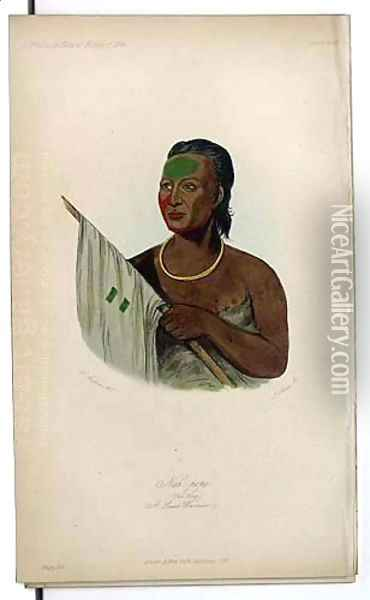 Nah-pope, A Sauk Warrior Oil Painting - George Catlin