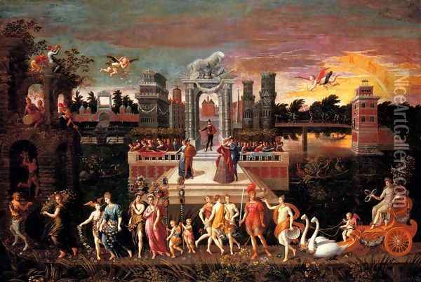 An Allegory Of The Triumph Of Spring Oil Painting - Antoine Caron
