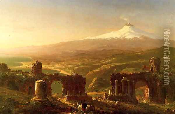 Mount Etna from Taormina Oil Painting - Thomas Cole