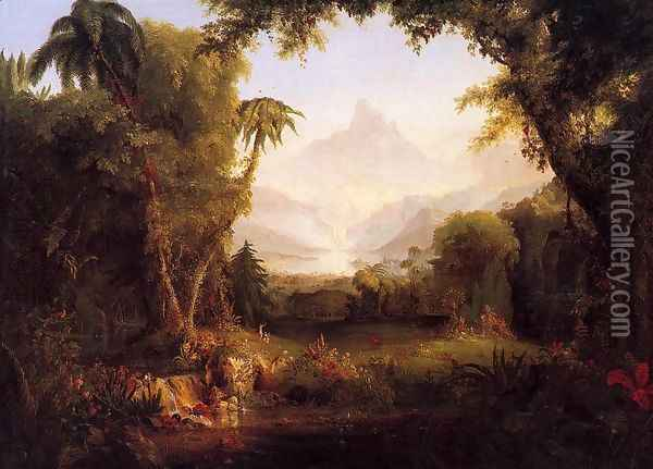 The Garden of Eden Oil Painting - Thomas Cole