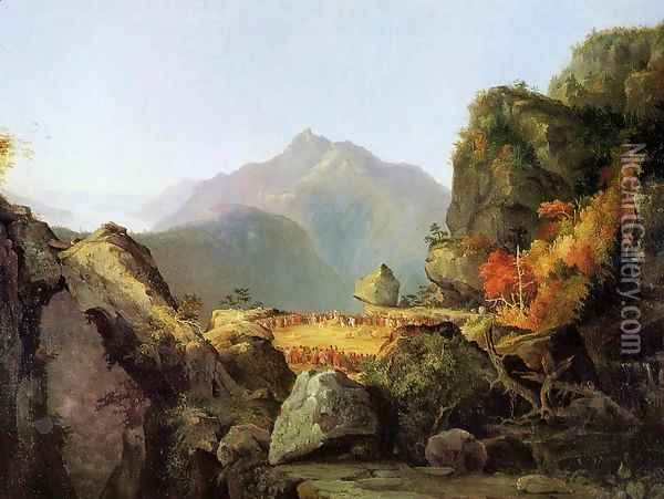 Landscape Scene from 'The Last of the Mohicans' Oil Painting - Thomas Cole
