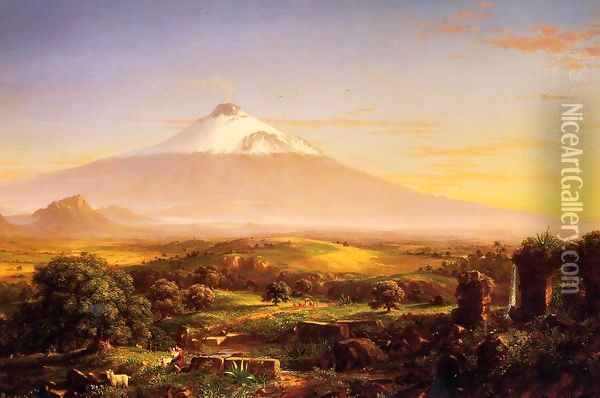 Mount Etna Oil Painting - Thomas Cole