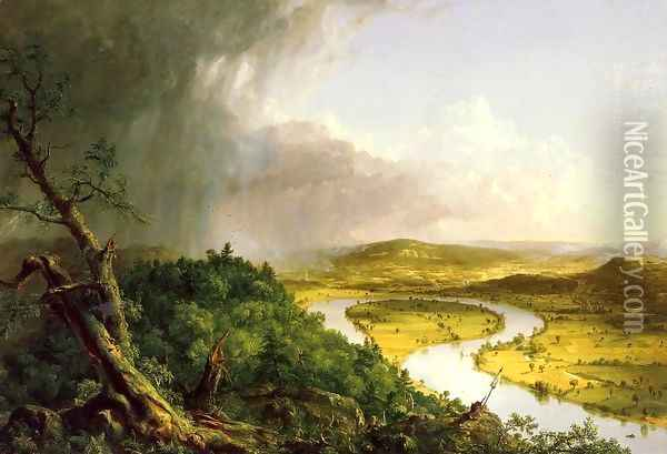 The Oxbow Oil Painting - Thomas Cole