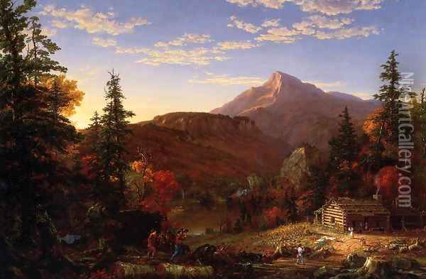 The Hunter's Return Oil Painting - Thomas Cole