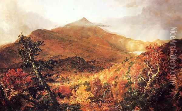 Schroon Mountain, Adirondacks Oil Painting - Thomas Cole