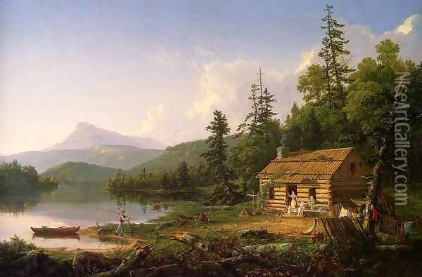 Home in the Woods, 1847 Oil Painting - Thomas Cole