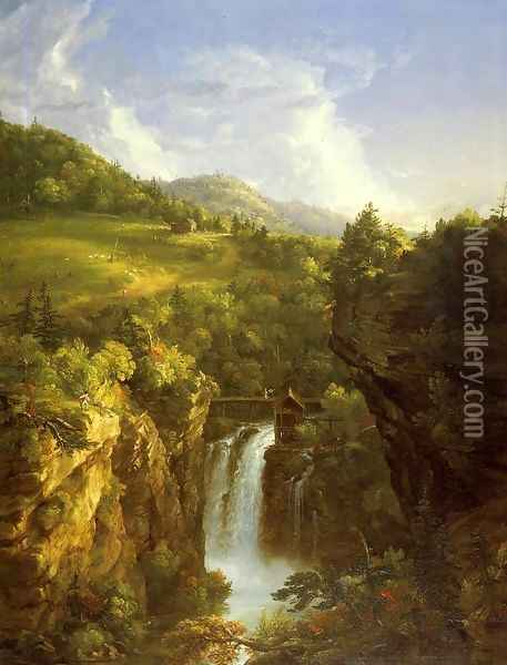 Genesee Scenery Oil Painting - Thomas Cole