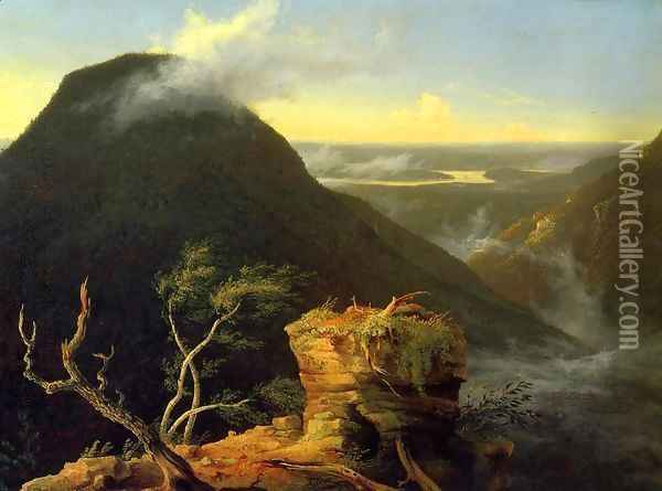 Sunny Morning on the Hudson River Oil Painting - Thomas Cole