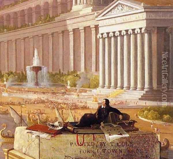 The Architect's Dream (detail) Oil Painting - Thomas Cole
