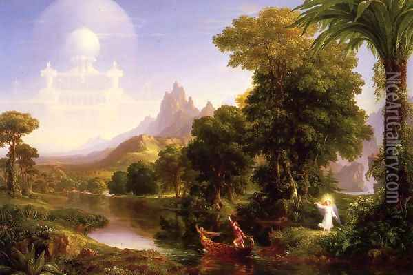The Voyage of Life, Youth Oil Painting - Thomas Cole