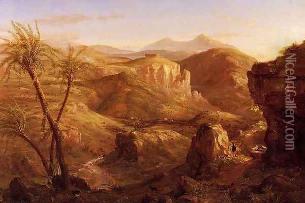 The Vale and Temple of Segesta, Sicily Oil Painting - Thomas Cole