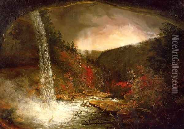 Kaaterskill Falls Oil Painting - Thomas Cole