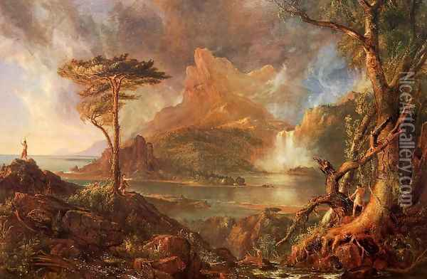 A Wild Scene Oil Painting - Thomas Cole