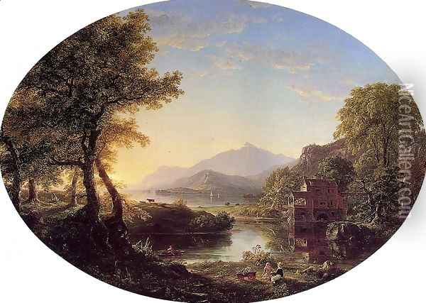 The Old Mill at Sunset Oil Painting - Thomas Cole