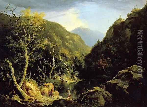 Autumn in the Catskills Oil Painting - Thomas Cole