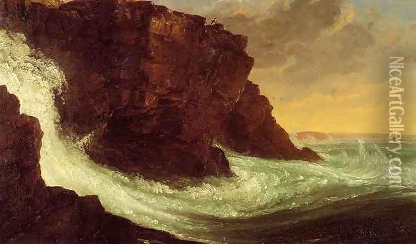 Frenchman's Bay, Mt. Desert Island Oil Painting - Thomas Cole