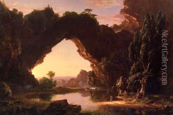 Evening in Arcady Oil Painting - Thomas Cole
