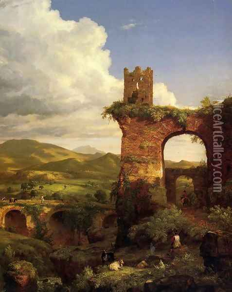 Arch of Nero Oil Painting - Thomas Cole