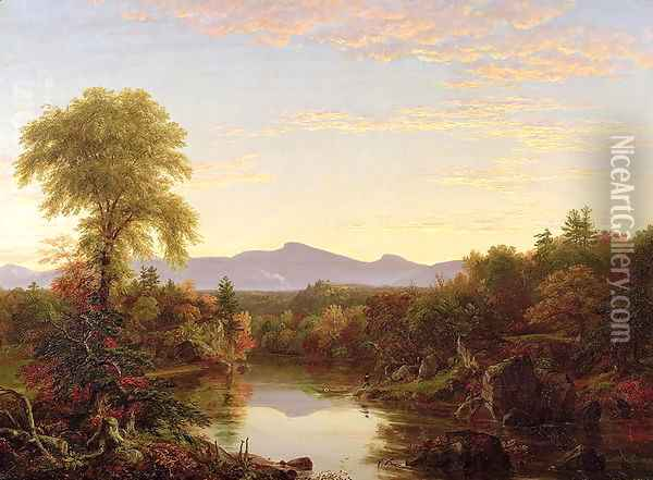 Catskill Creek, New York, 1845 Oil Painting - Thomas Cole