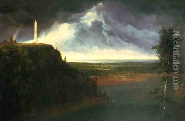 Brock's Monument Oil Painting - Thomas Cole