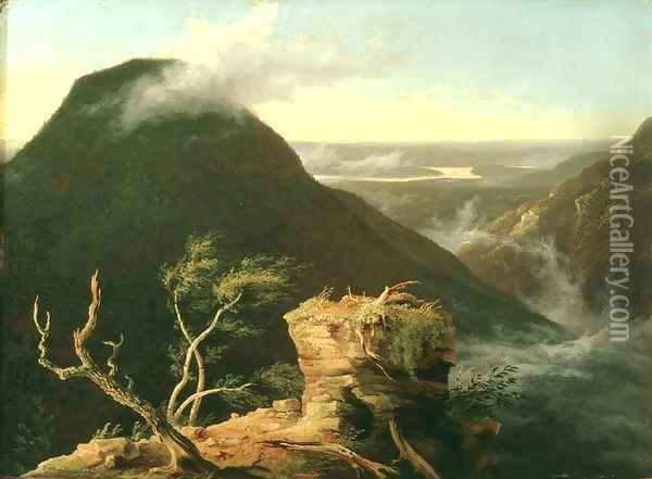 View of the Round-Top in the Catskill Mountains, 1827 Oil Painting - Thomas Cole