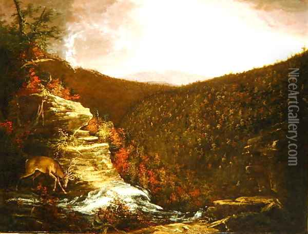 From the Top of Kaaterskill Falls, 1826 Oil Painting - Thomas Cole