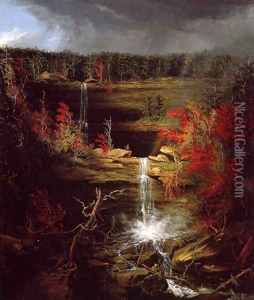 Falls of Kaaterskill Oil Painting - Thomas Cole