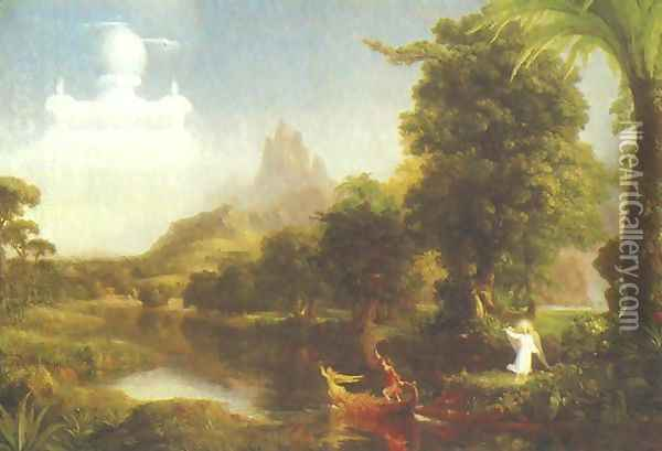 Voyage of Life. Youth Oil Painting - Thomas Cole