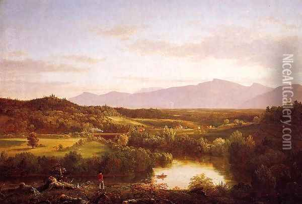 River in the Catskills Oil Painting - Thomas Cole