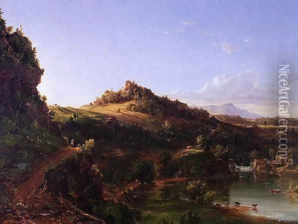 Catskill Scenery Oil Painting - Thomas Cole