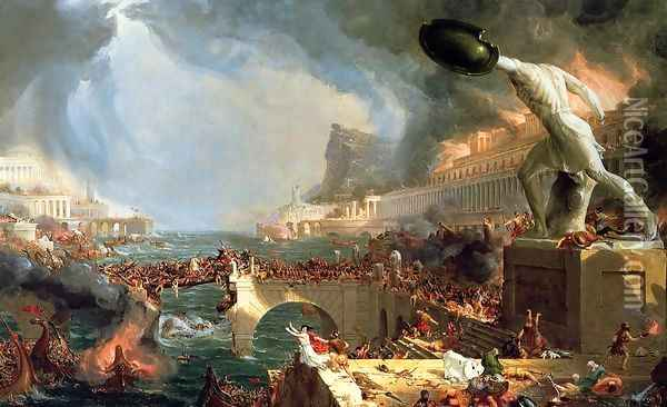 The Course of Empire: Destruction, 1836 Oil Painting - Thomas Cole