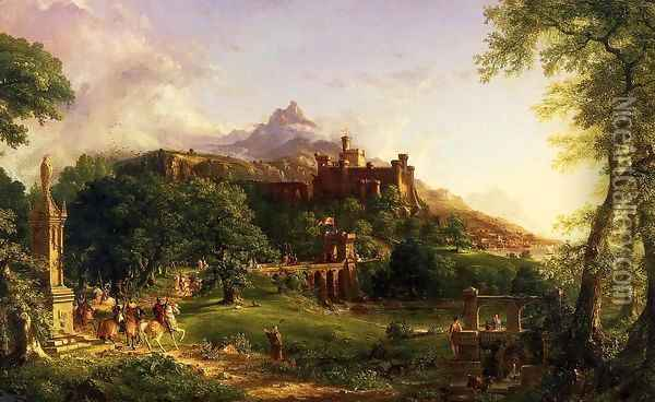 The Departure Oil Painting - Thomas Cole
